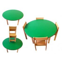 Kids beech wood preschool classroom school tution centre study table and chairs set