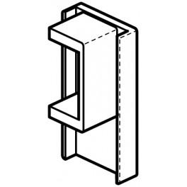 End Piece Black Click Clip Rail