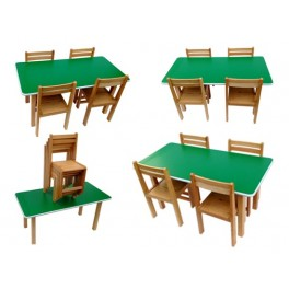 Kids beech wood preschool classroom school tution centre study table