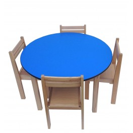 Activity Table and Chairs Blue
