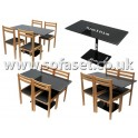 Bistro Pedastal -Granite table and chairs
