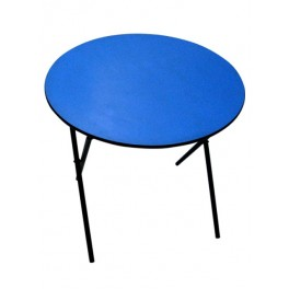 Round Folding table - Blue top