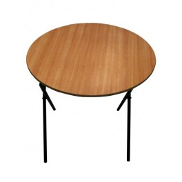 Round Folding table - Beech top
