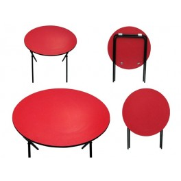 Round Folding table - Red top