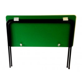 Folding table with folding chairs- Green top