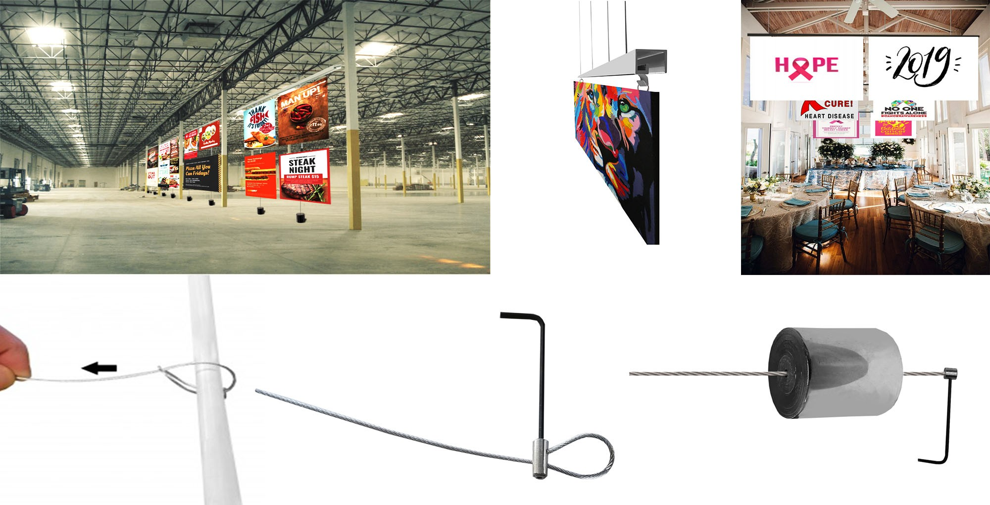 High Ceiling Picture Hanging Systems