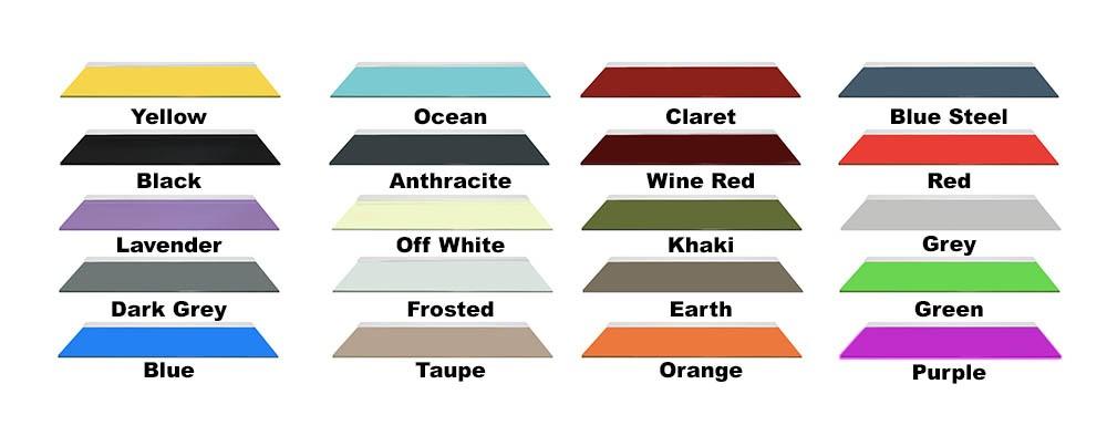 Coloured Glass Shelves